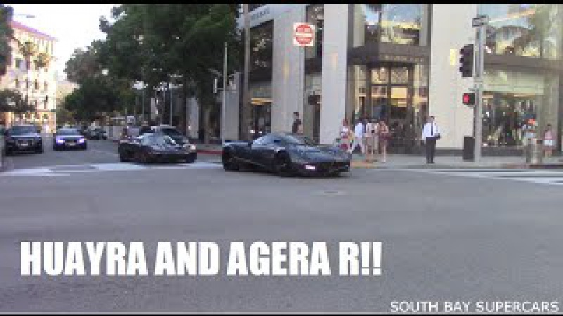Koenigsegg Agera R and Pagani Huayra Spotted in Beverly Hills!