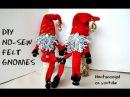 DIY: NO-SEW FELT GNOMES, how to make cute elf figures, Christmas Decorations