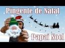 Papai Noel de Crochê Pingente de Natal Modelo 2