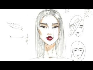 💁🏻FASHION SKETCH: как нарисовать лицо. Урок-вебинар
