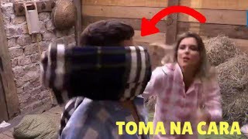 Bêbada, Flávia dá trabalho e Agride Marcelo Ié Ié | A Fazenda Nova Chance - 20/10/2017