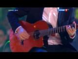 Вячеслав Бутусов (вокал, гитара) и Виталий Кись (гитара), Мария Климова (народны