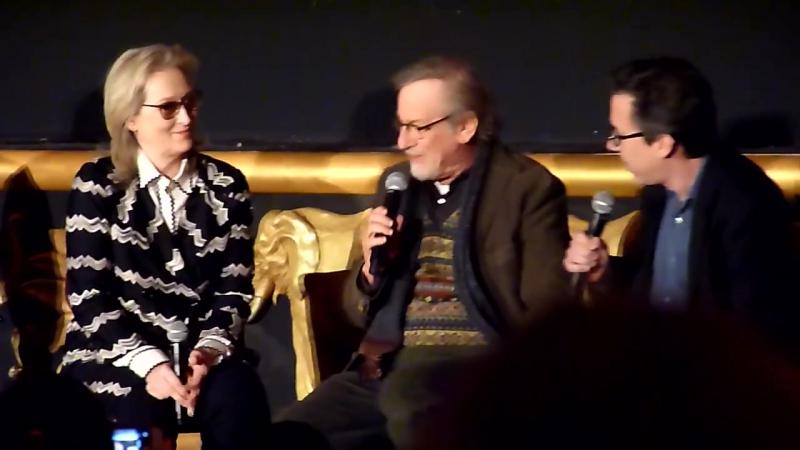 Meryl Streep and Steven Spielberg on making the film fast