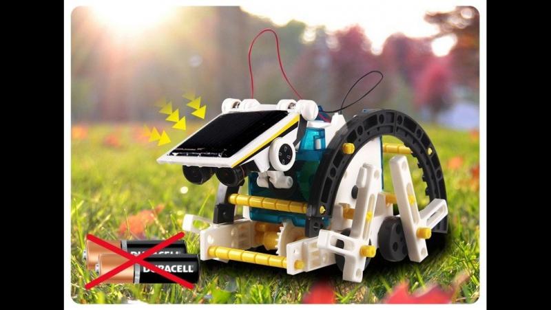 Робот-конструктор на солнечной батарее!