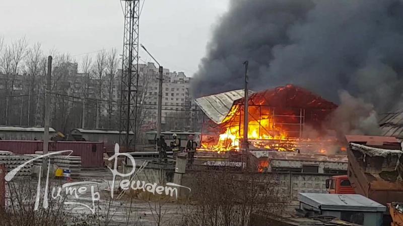 Большой пожар в Мурине (09.11.2017)