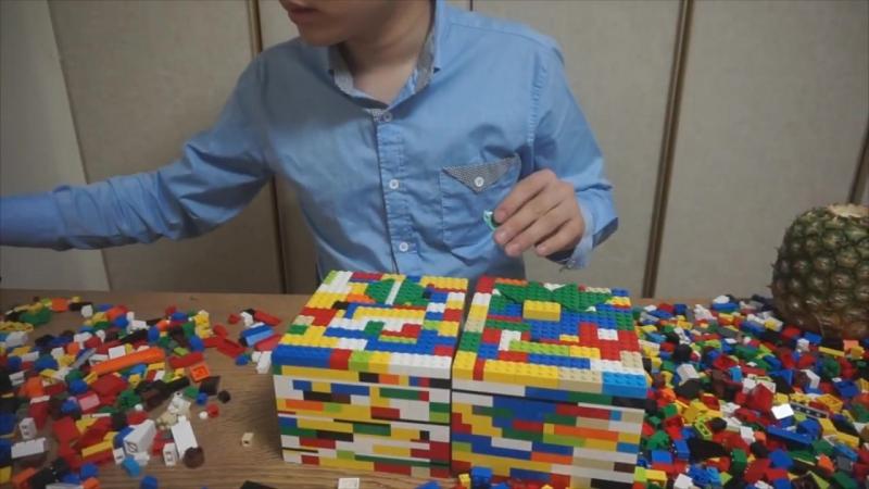 [나단] 레고 글러브를 만들어서 과일을 격파해보았다 LEGO GLOVES BOXING