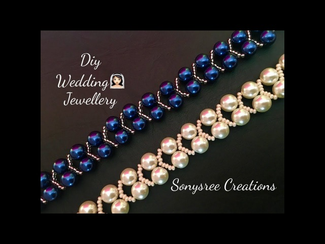 Elegant Pearl Beaded Bracelet, Wedding jewelry 👰🏻 Super Easy Tutorial