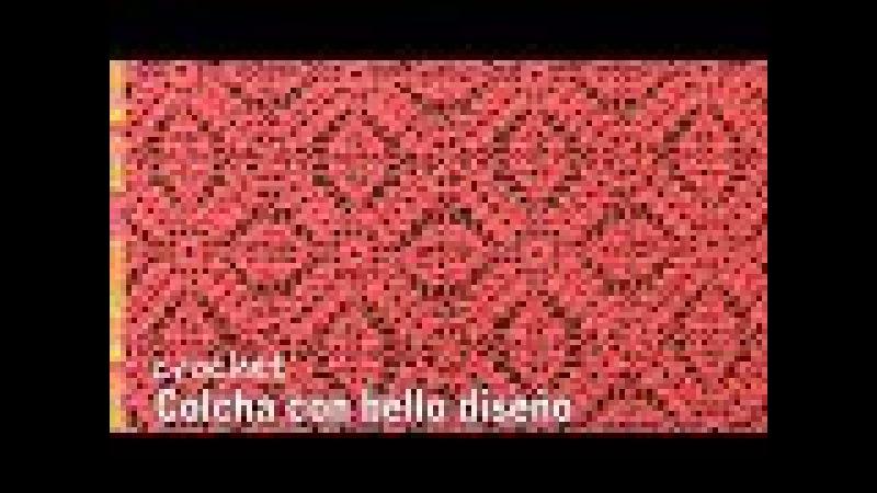Colcha con bello diseño tejida a crochet - Tejiendo Perú