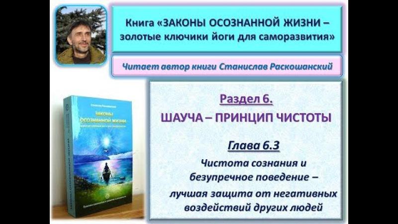 Книга ЗАКОНЫ ОСОЗНАННОЙ ЖИЗНИ. Глава 6.3. Читает автор книги - Станислав Раскошан...