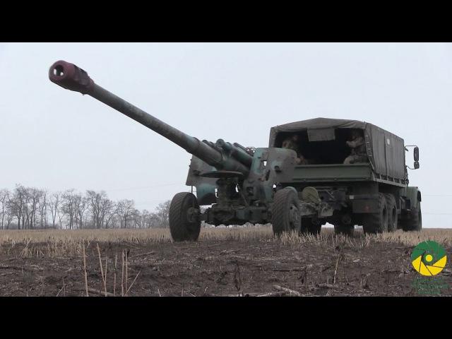 Українські артилеристи провели тренування в зоні АТО