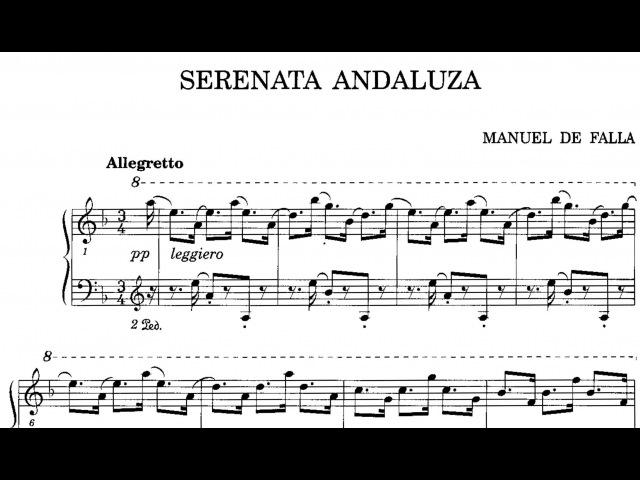 Manuel de Falla Serenata andaluza 1900