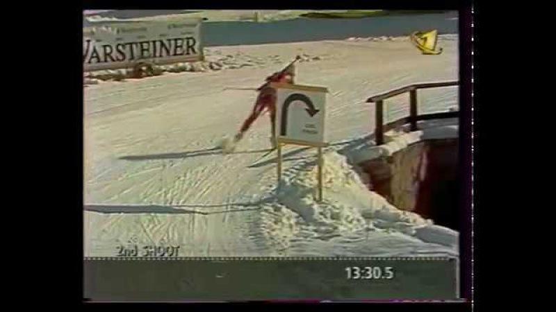 Биатлон (ОРТ, 07.02.1997) ЧМ в Брезно-Осрблье. Женская эстафета.