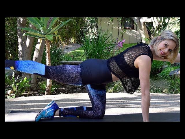 29-минутная тренировка для плоского живота и тонуса рук - Силовая тренировка для рук и пресса. 29 Min Flat Belly and Toned Arms Workout - Strength Training with Weights Focus on Arms Core