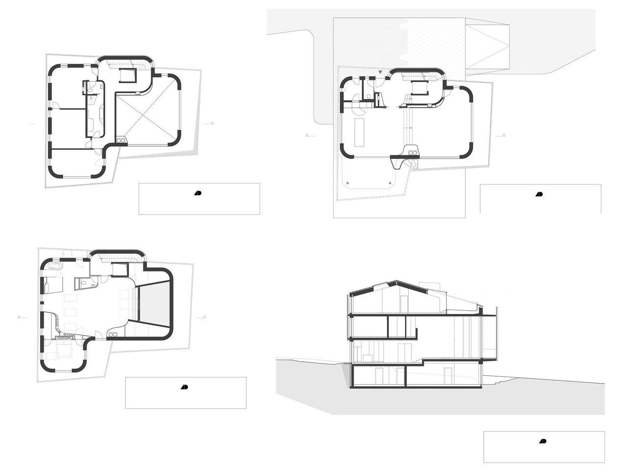 Вилла на берегу озера с резным фасадом / Alexander Diem