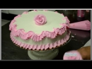 Ukrashenie tortov rozami iz krema Oformlenie tortov kremom Ukrashenie tortov v domashnih usloviyah