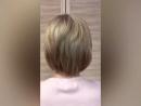 Из брюнетки в блондинку (короткие волосы) в Акварель