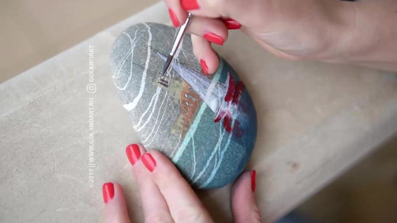 Голанд Екатерина - рисунки на камнях