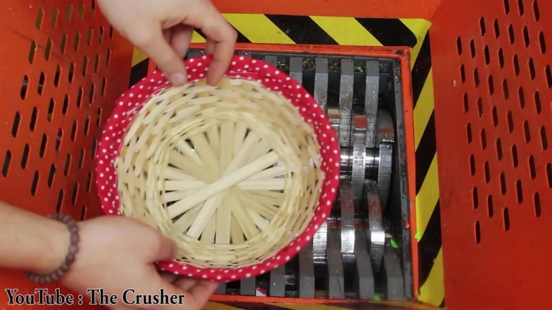 The Crusher Experiment Shredding Wicker basket The Crusher