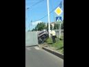 Страшная авария на розы Люксембург , в машине находился ребёнок жертв нет . Движение затруднено #Ульяновск