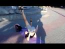 Парень в Запорожье показывает класс обращения с мячом