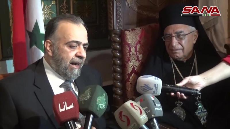 Министр вакфов Сирии Мухаммад Абдель-Саттар Ас-Сеид посетил патриарха Мелькитской Греко-католической церкви Иосифа Аль-Абси
