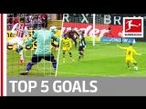 Чемпионат Германии 2017-18 / Лучшие голы 23-го тура / Топ-5 [HD 720p]
