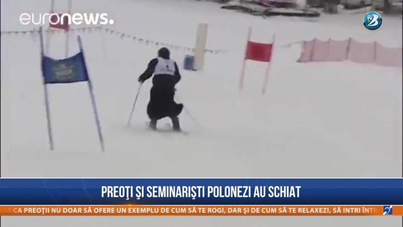 Preoţi şi seminarişti polonezi au schiat
