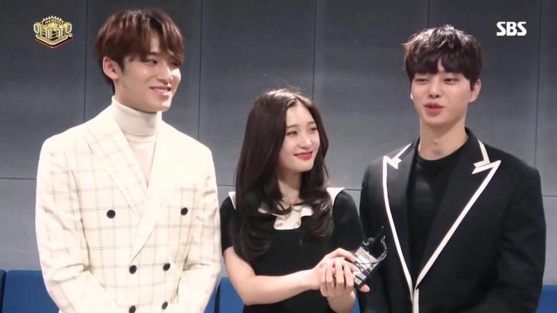 180219 SBS [인기가요] - 스페셜 3MC(민규,채연,송강) 인터뷰