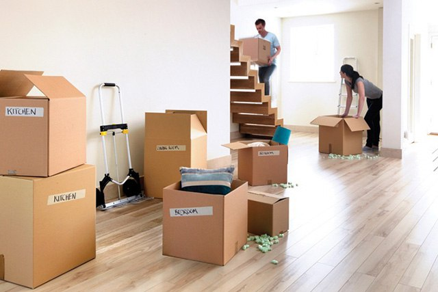 наклейки на коробки для переезда