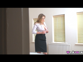 Sapphire - Sister Caught Watching Porn [spying, spy, busty, big tits, voyeur boobs, masturbation, solo]