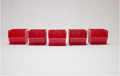 Пластиковые ящики цветные