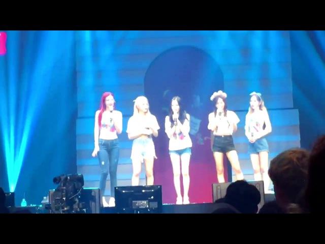 170818 Red Velvet 레드벨벳 RED ROOM (Day 1) - SHARK FAMILY SONG 😂🦈
