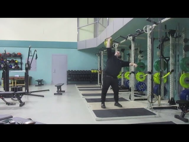 Bruno Joost one hand dead muscle swing 60kg kettlebell Свинговое вырывание Юста 60кг гиря