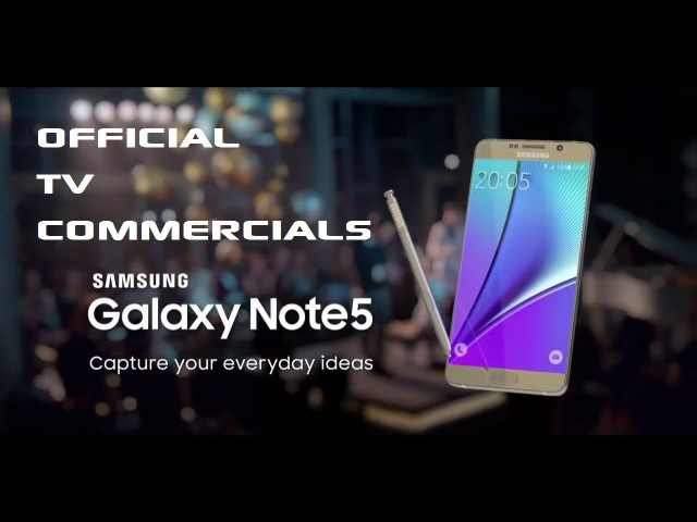 Samsung Galaxy Note 5 Offficial TV Commercial - All In One