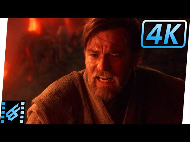 Obi Wan vs Anakin Part 2 Star Wars Revenge of the Sith 2005 Movie Clip