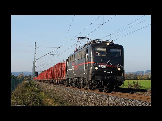 Güterzüge im Frankenwald - EBS 140, TX Logistik, 193 640, Raildox, Voith Maxima uvm.