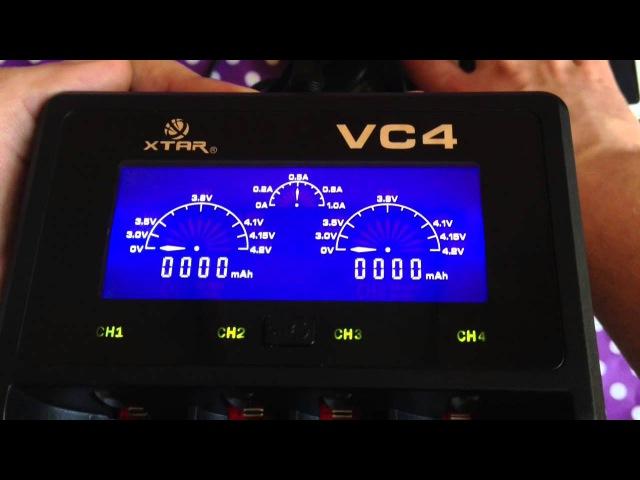 XTAR VC4 умная зарядка для Li ion и Ni MH intelligent charger