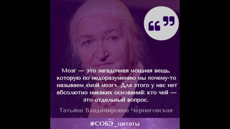 Цитата: Т. В. Черниговская о выражении «мой мозг»