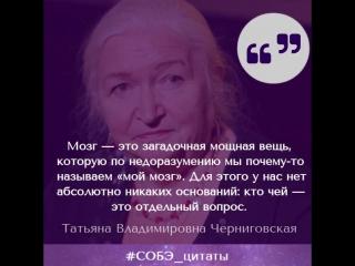 Цитата: Т. В. Черниговская о выражении мой мозг