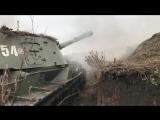 Тактические занятия в составе разведывательно-огневого контура артиллеристов ЮВО на полигоне Кадамовский