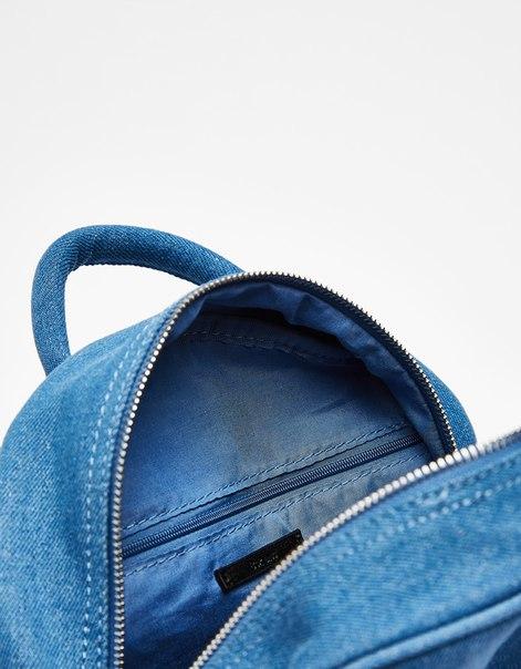 Джинсовый рюкзак с бантом
