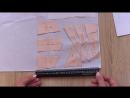 Как рассчитать количество ткани на асимметричную юбку с помощью масштабной линей