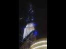 световое шоу на башне в Дубае