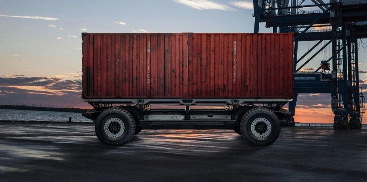 OyySpi2z8k8 GM представила беспилотную грузовую платформу SURUS на водороде
