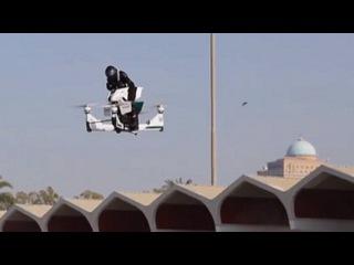 Dubai police unveil flying motorbike drone hybrid