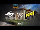Game 1  Team Secret vs Na'Vi  BO3  DOTA Summit 7 LAN-Final