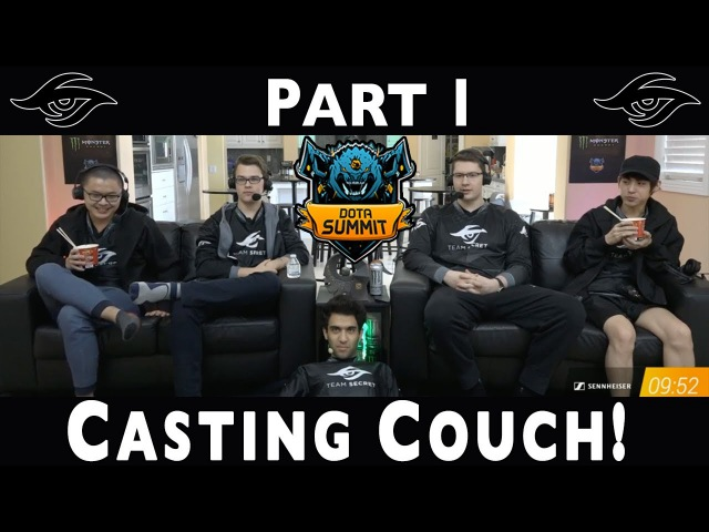 Dota 2 | Team Secret Casting Couch (PART 1) MUST WATCH! | The Summit 7