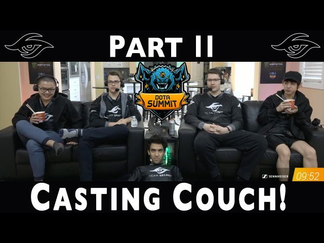 Dota 2 | Team Secret Casting Couch (PART 2) MUST WATCH! | The Summit 7