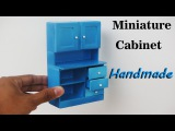 How To Make Realistic Miniature Cabinet Furniture - Handmade Dollhouse