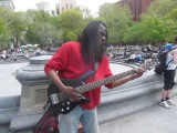 WMD- Larry- World's Most Dangerous Bass Player- in Washington Sq. Park, NYC 5713